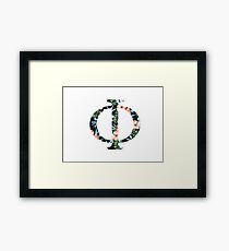 Phi Floral Greek Letter Framed Print