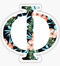 Phi Floral Greek Letter Sticker