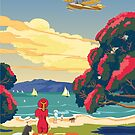 Walsh Brothers Flying Boat, Auckland 1915 by contourcreative