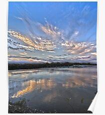 Sunset at White Rock Lake Poster