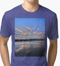 Sunset at White Rock Lake Tri-blend T-Shirt