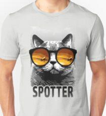 Plane Spotting Cat Unisex T-Shirt