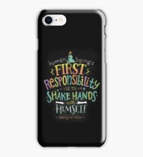 First Responsibility iPhone Case/Skin