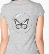 """Will you miss me?"" -Asked the butterfly. II Women's Fitted Scoop T-Shirt"