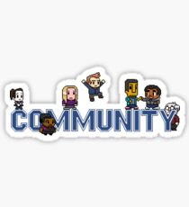 Community Logo with Characters Sticker
