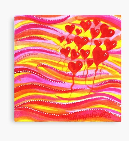 Balloons Of Love Canvas Print