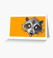 Gray Raccoon GTA Greeting Card