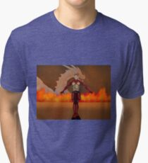 flame warrior (dicipline) one of four designs Tri-blend T-Shirt