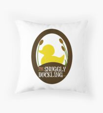 The Snuggly Duckling Pub and Brewery Throw Pillow