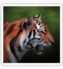 A Leader - Siberian Tiger Art Sticker