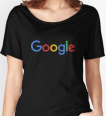 New Google Logo (September 2015) - Clear, High-Quality, Large Women's Relaxed Fit T-Shirt