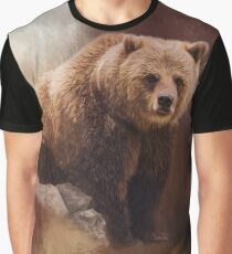 Great Strength - Grizzly Bear Art Graphic T-Shirt