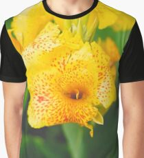 Lily Canna Flower Graphic T-Shirt