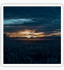 Sunrise Art - Blue Hour Unhurried Sticker