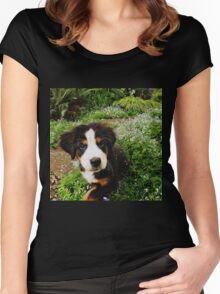 Puppy Art - Little Lily Women's Fitted Scoop T-Shirt