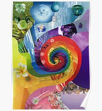 Colour wheel collage Poster