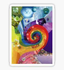 Colour wheel collage Sticker