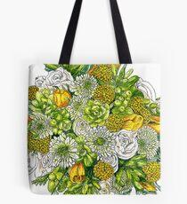 Yellow Roses & Succulents Tote Bag
