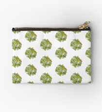 Yellow Roses & Succulents Zipper Pouch