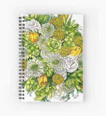 Yellow Roses & Succulents Spiral Notebook