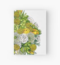 Yellow Roses & Succulents Hardcover Journal