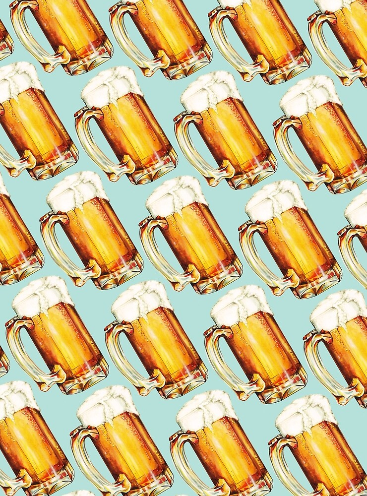 Quot Beer Pattern Quot By Kelly Gilleran Redbubble