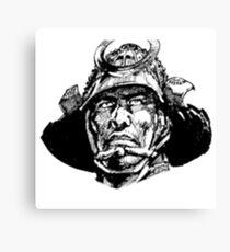 Samurai Head Canvas Print