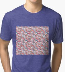 Alice in Wonderland pattern Tri-blend T-Shirt