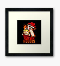 Tiger and Kids Boy its so Funny Framed Print