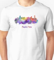 Hamilton skyline in watercolor Unisex T-Shirt