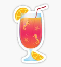 Summer sea cocktail Sticker