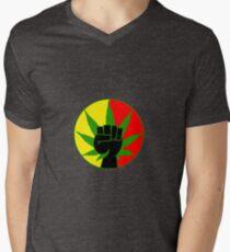 Rasta Marihuana macht T-Shirt mit V-Ausschnitt für Männer