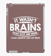 brains here iPad Case/Skin