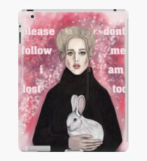 please dont follow me i am lost too iPad Case/Skin