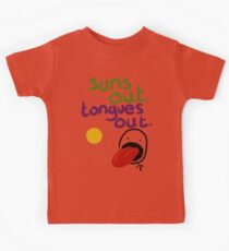 Sun's out, Tongues out Kids Clothes