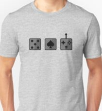 Game Tokens Design - Grayscale T-Shirt