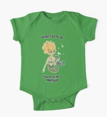 When I grow up, I want to be a mermaid! One Piece - Short Sleeve
