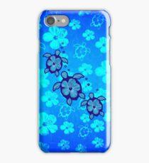 3 Hawaiian Honu And Hibiscus iPhone Case/Skin
