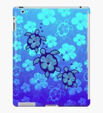 3 Hawaiian Honu And Hibiscus iPad Case/Skin