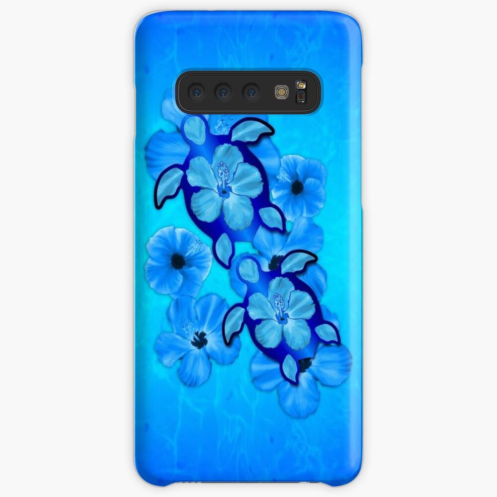 Blue Hawaiian Honu Turtles Funda y vinilo para Samsung Galaxy