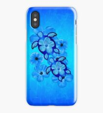 Blue Hawaiian Honu Turtles iPhone Case/Skin