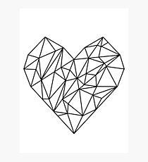 Geometric Heart Photographic Print