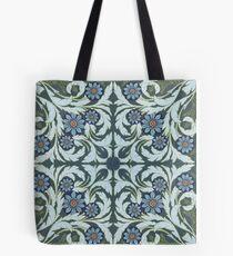 Mosaic flowers pattern Tote Bag