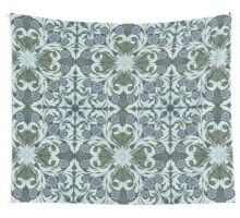 Mosaic flowers pattern Wall Tapestry