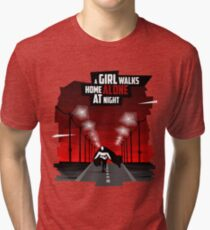 A Girl Walks Home Alone At Night Tri-blend T-Shirt