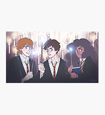 The Golden Trio in the Great Hall Photographic Print