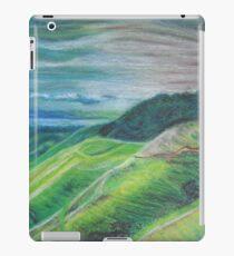 Green Hills Oil Pastel Drawing iPad Case/Skin