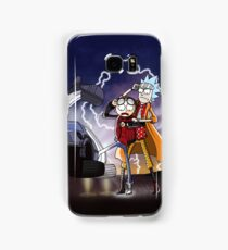 Rick And Morty Back To The Future Mash-Up Samsung Galaxy Case/Skin