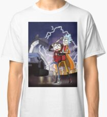 Rick And Morty Back To The Future Mash-Up Classic T-Shirt