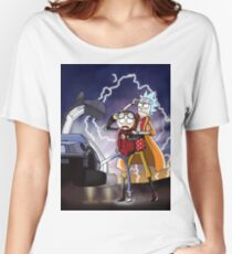 Rick And Morty Back To The Future Mash-Up Women's Relaxed Fit T-Shirt